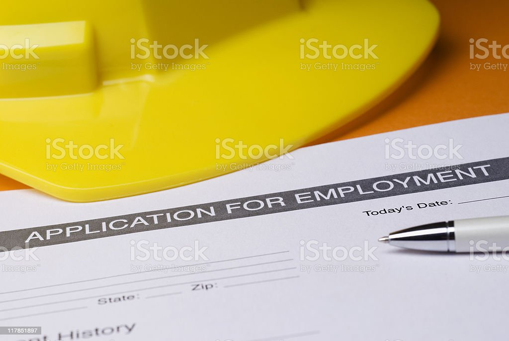 Construction Employment royalty-free stock photo