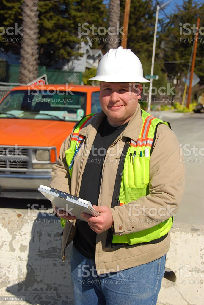 Construction Engineer at Work royalty-free stock photo