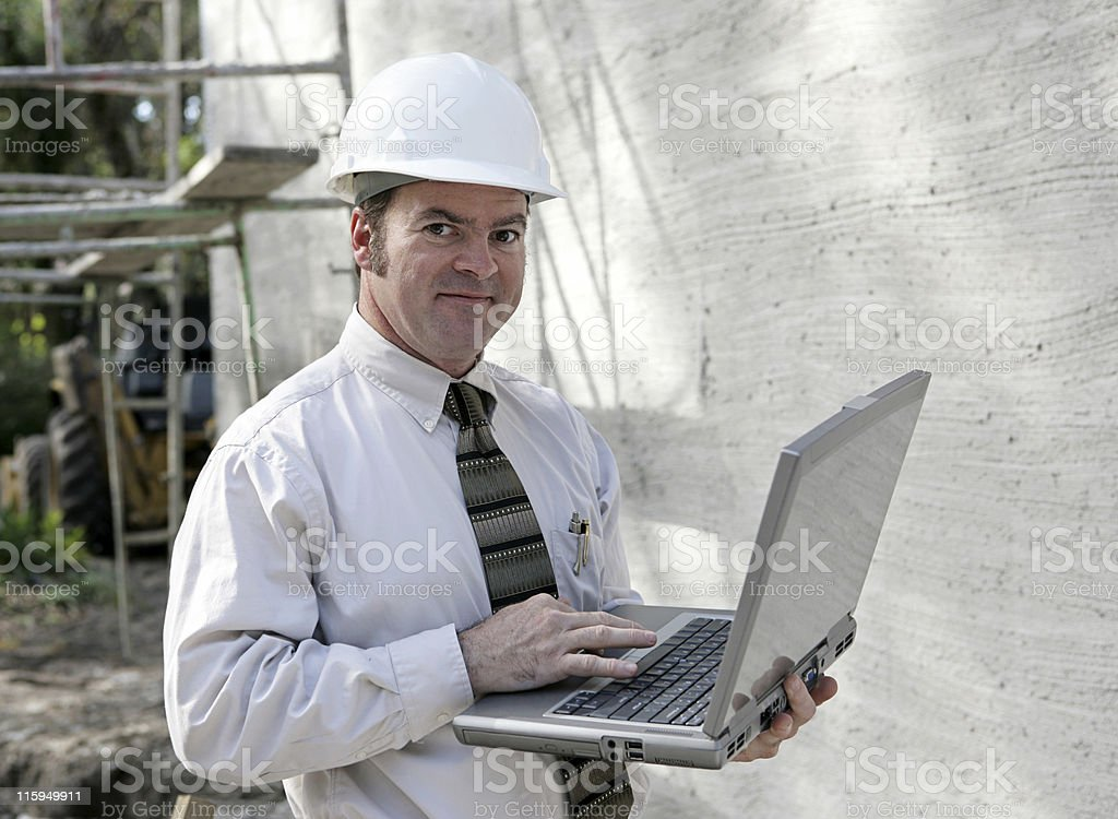 Construction Engineer Online royalty-free stock photo