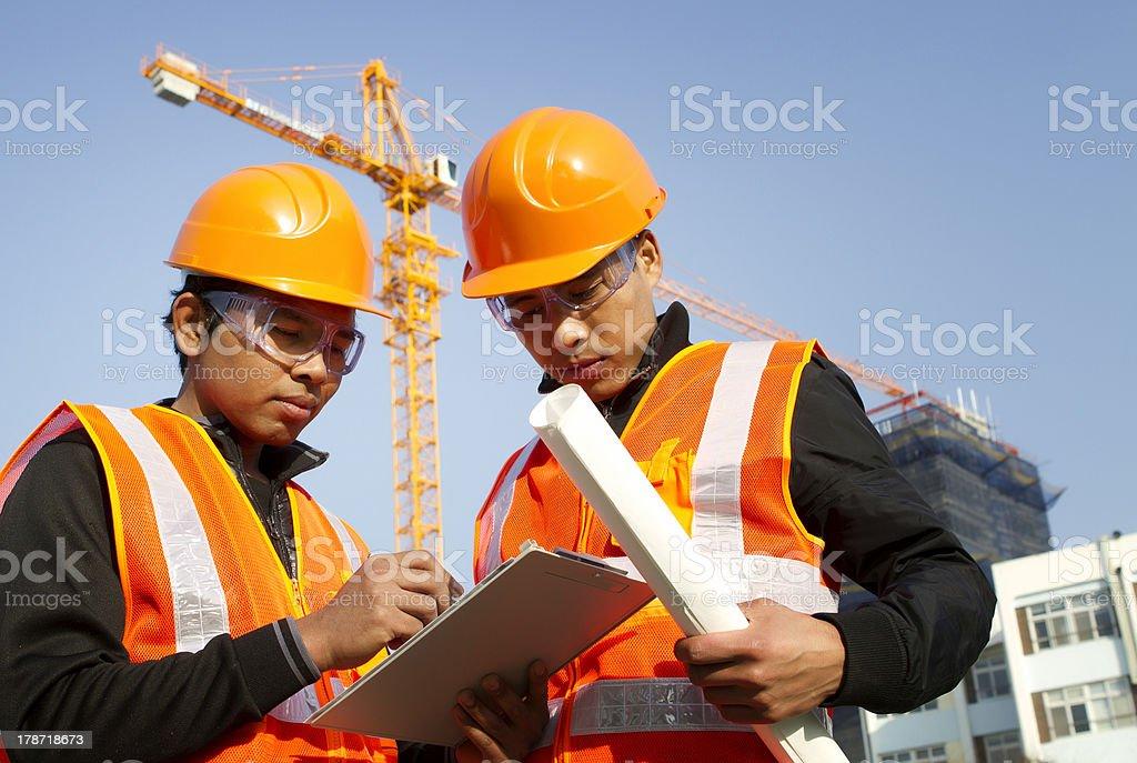 Bau engineer Lizenzfreies stock-foto