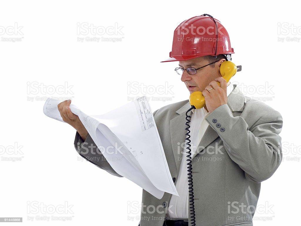 Construction engineer royalty-free stock photo