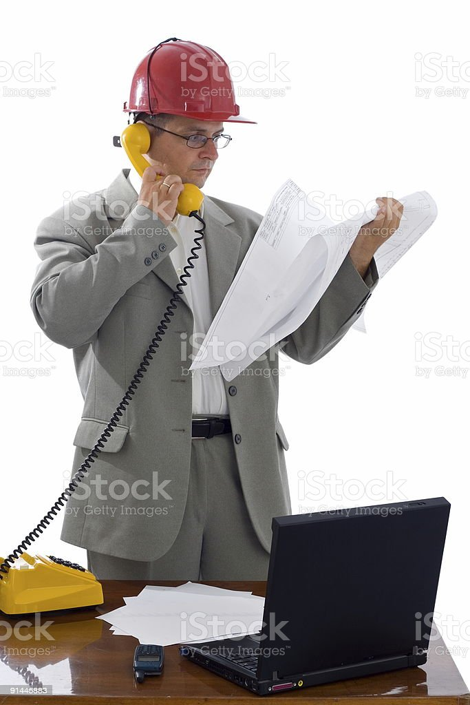 Construction engineer royalty-free stock photo