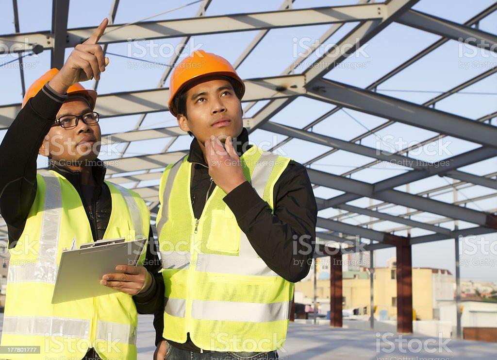 Konstruktion-Ingenieure Lizenzfreies stock-foto