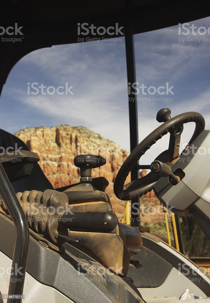 Construction Equipment Machine Controls royalty-free stock photo