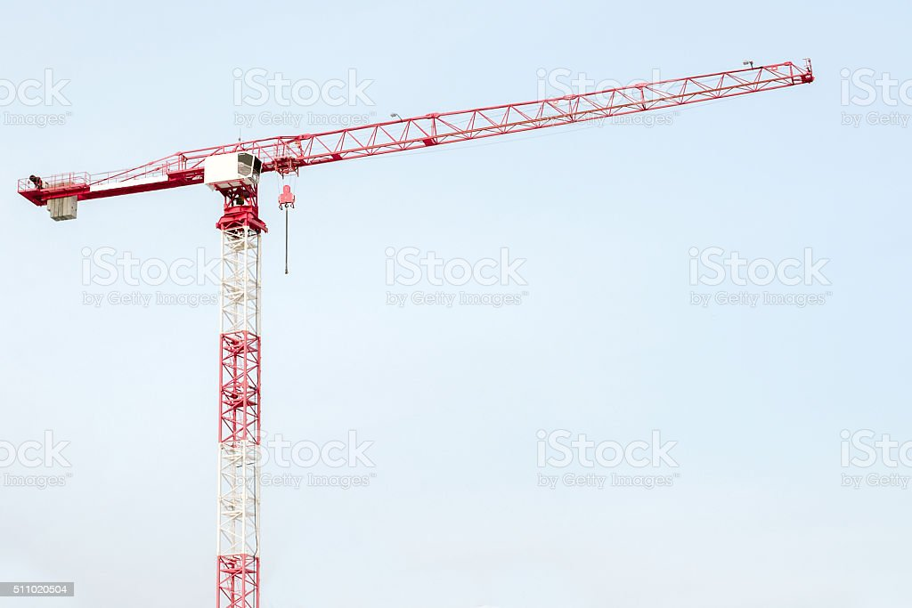 Construction equipment (crane) stock photo