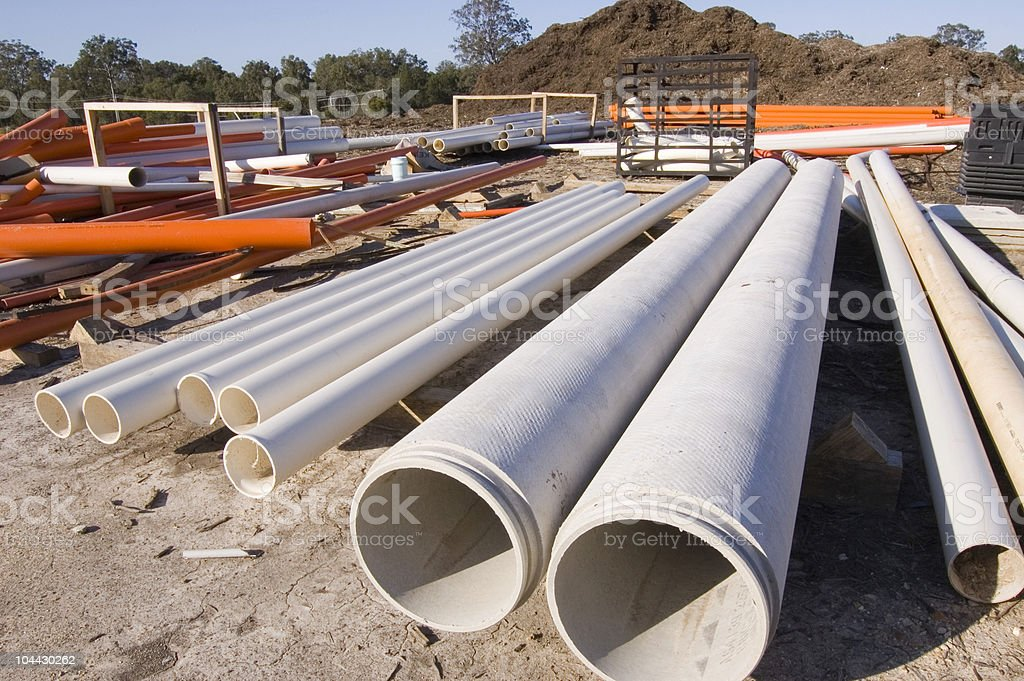 Construction Equipment-Pipes royalty-free stock photo