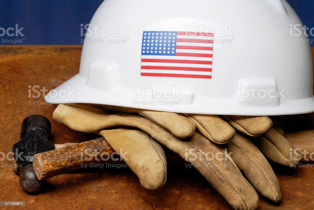 Construction essentials in American labor stock photo