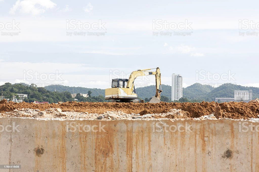 Construction Excavator royalty-free stock photo