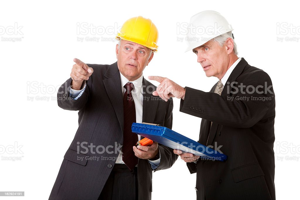 Construction Executives Working Together royalty-free stock photo