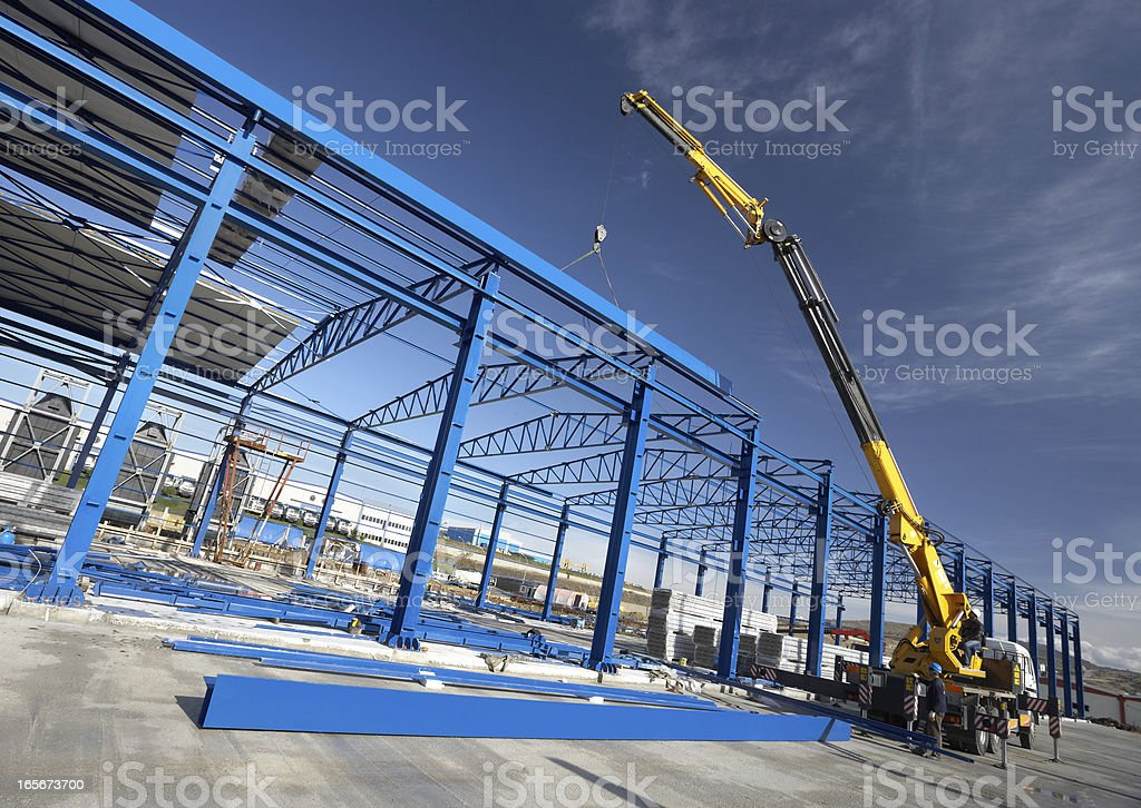 Construction factory building royalty-free stock photo
