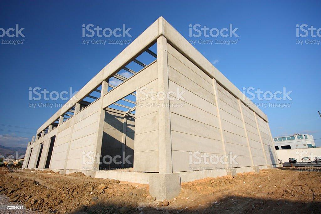 Construction factory building stock photo