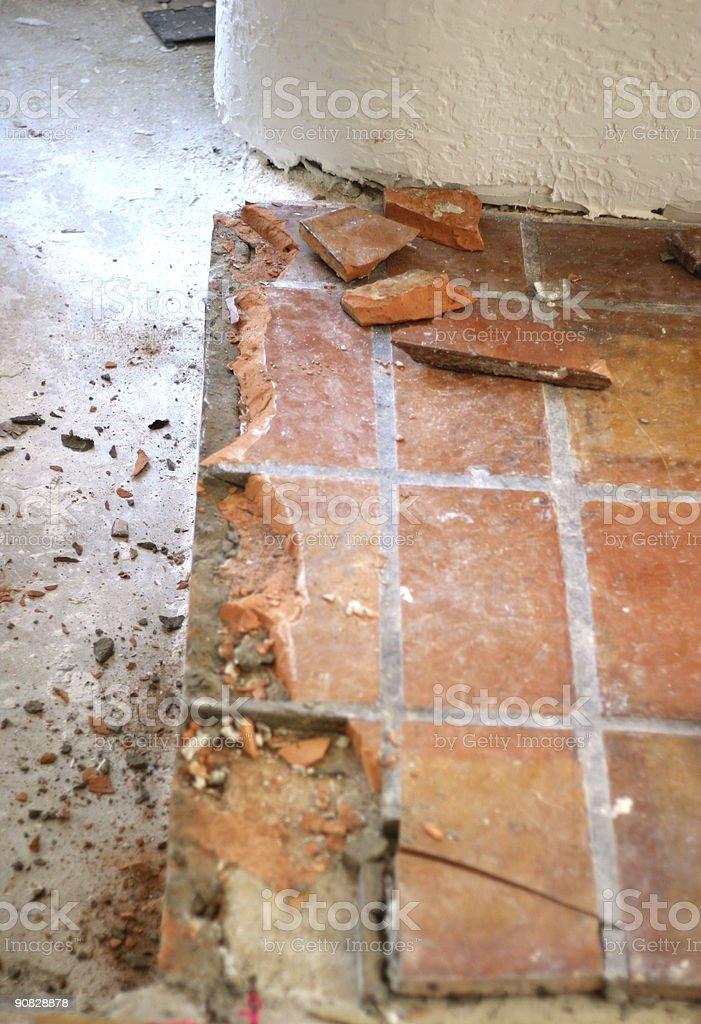 Construction - Floor tile stock photo