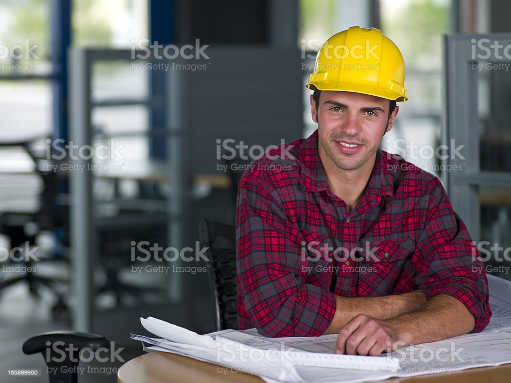 Construction Foreman royalty-free stock photo