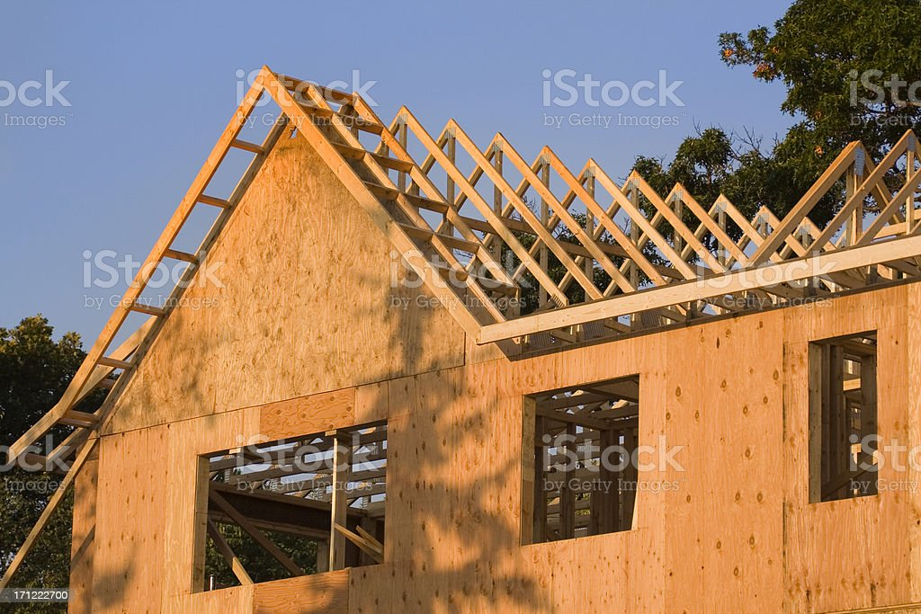 Construction Framing Hz stock photo