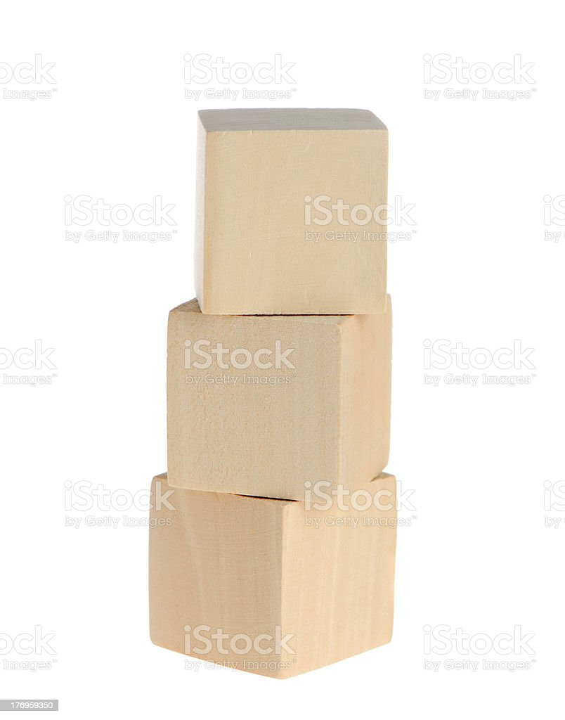 construction from wooden cubes royalty-free stock photo