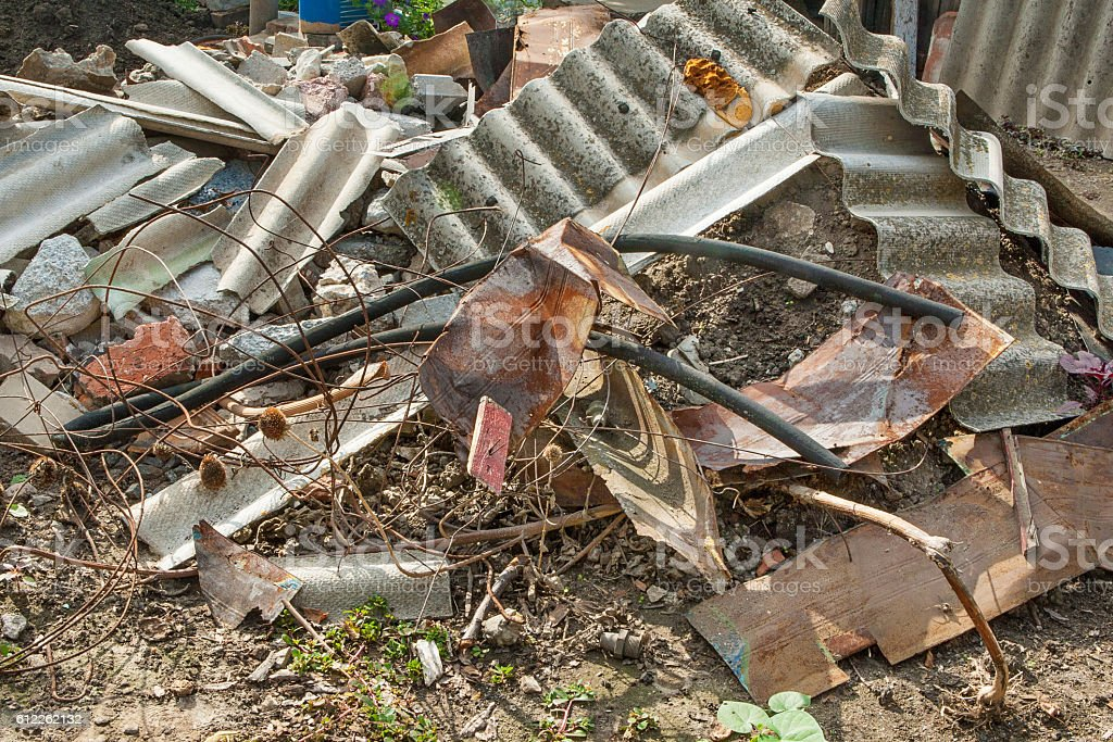 Construction garbage. stock photo