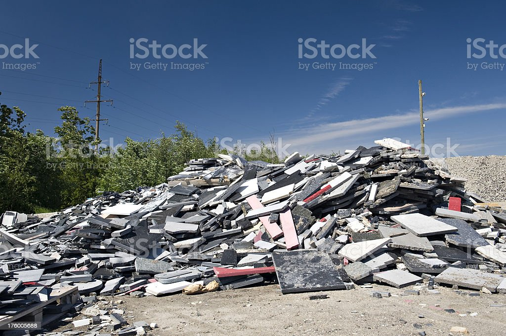 Construction garbage site royalty-free stock photo