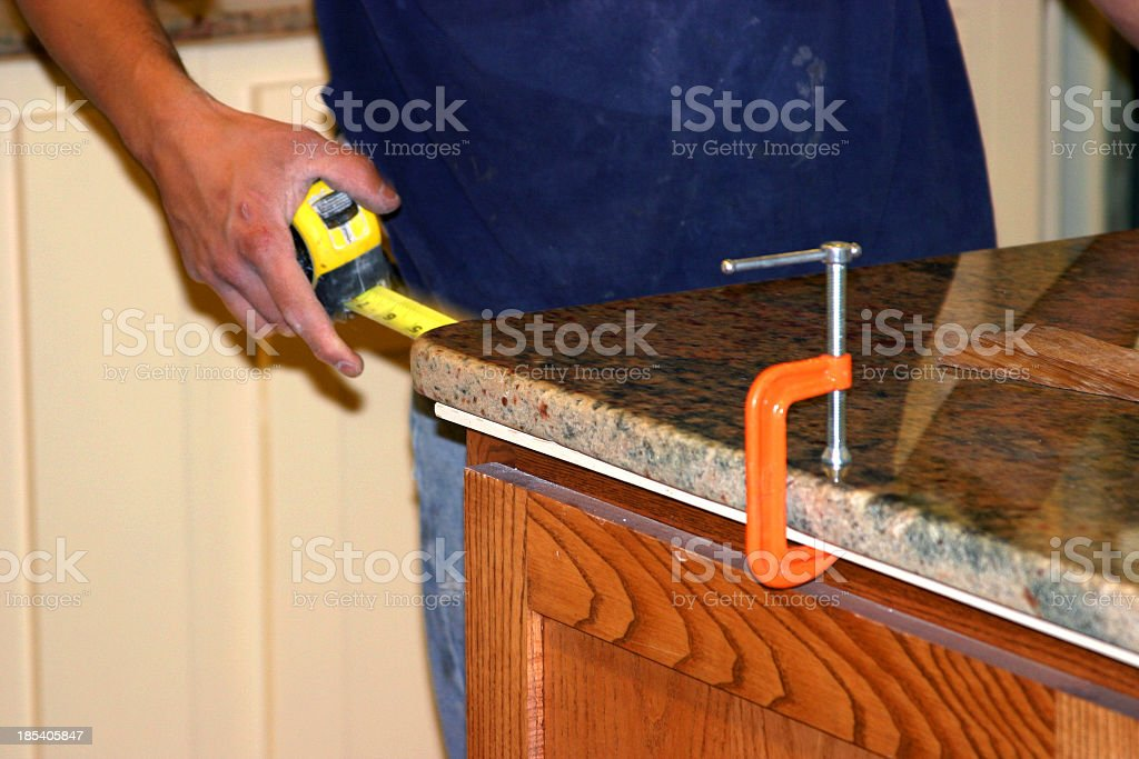 Construction - Granite Countertop royalty-free stock photo