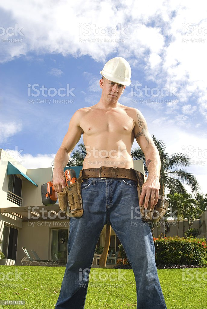 Construction Guy royalty-free stock photo