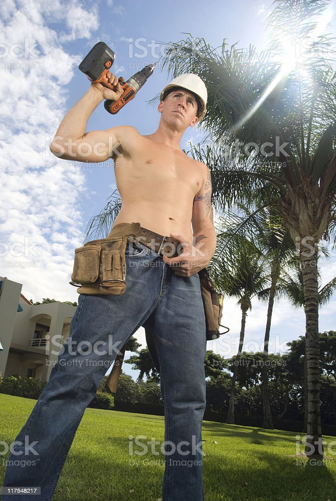 Construction Guy stock photo