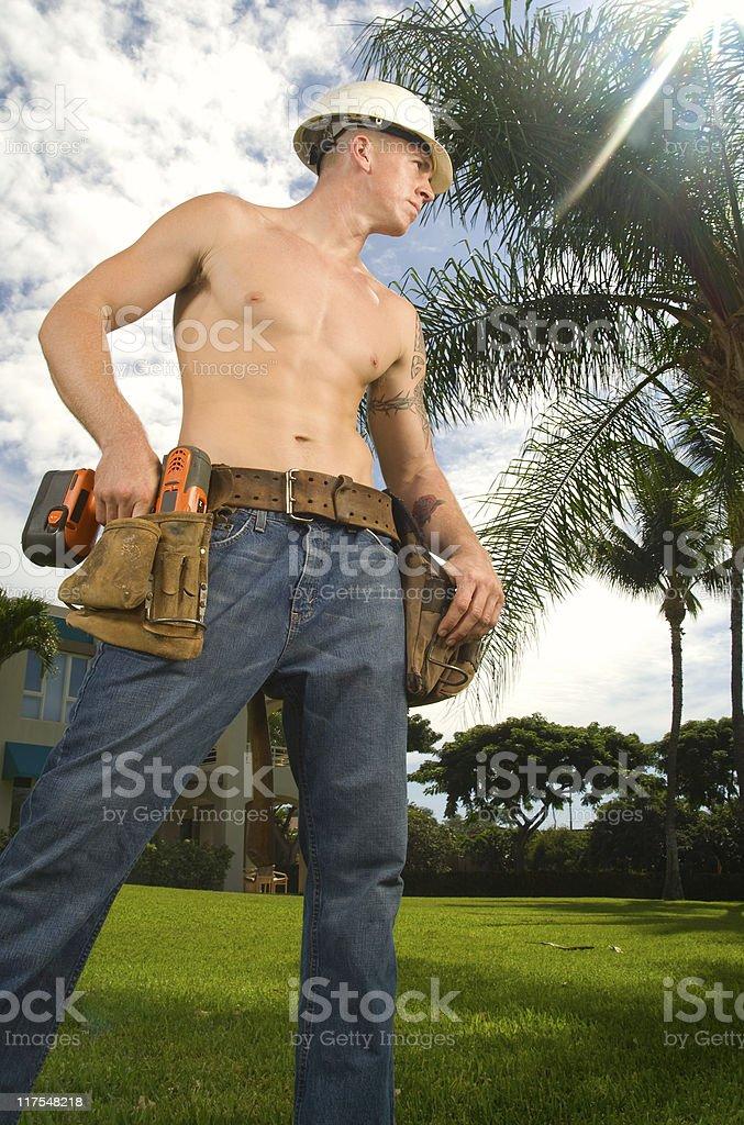 Construction Guy royalty-free stock photo