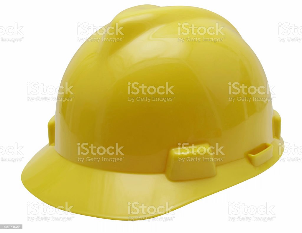 Construction Hat #1 (Clip Path) royalty-free stock photo
