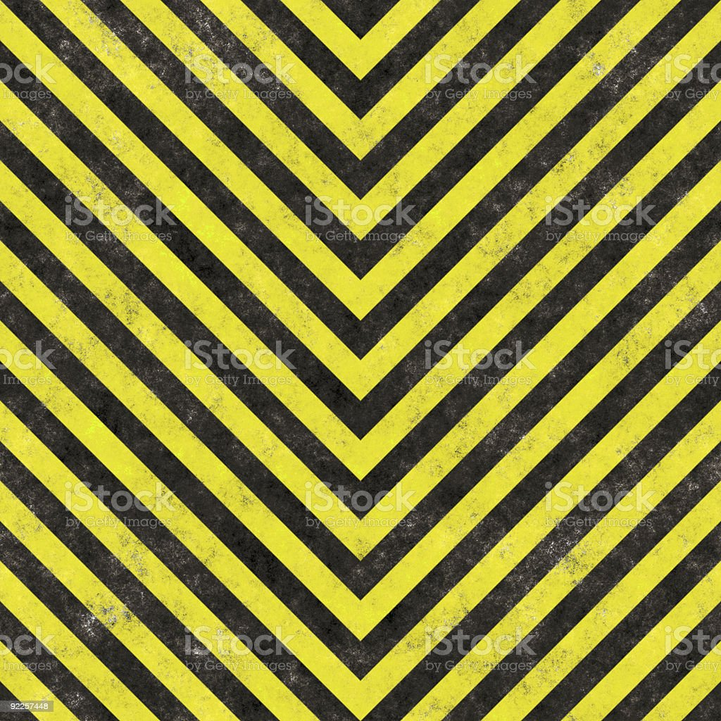 Construction Hazard Stripes royalty-free stock photo