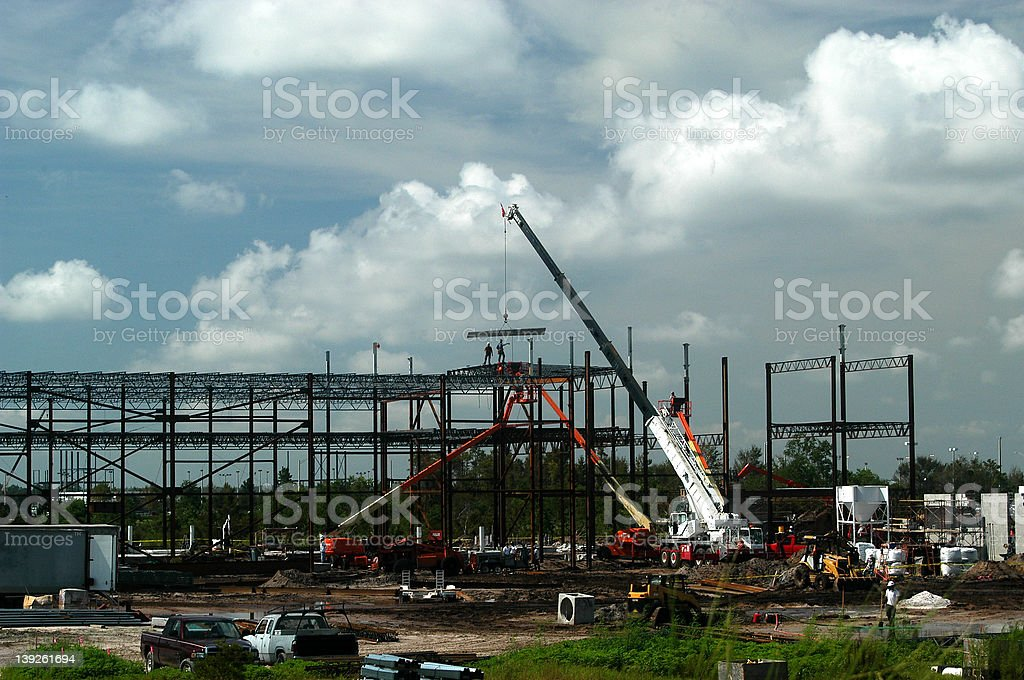 construction heights royalty-free stock photo
