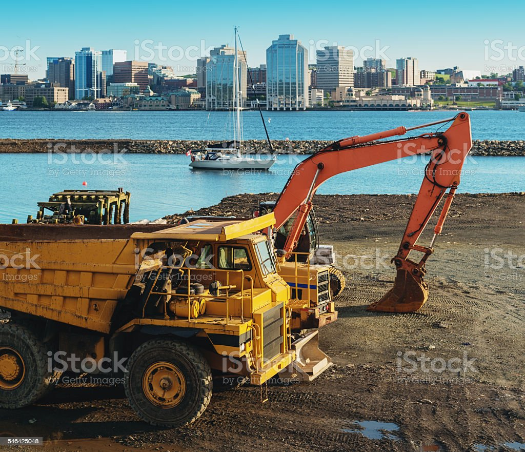 Construction in Halifax stock photo