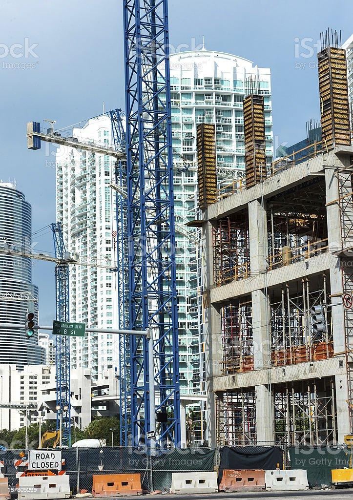 Construction in Miami royalty-free stock photo