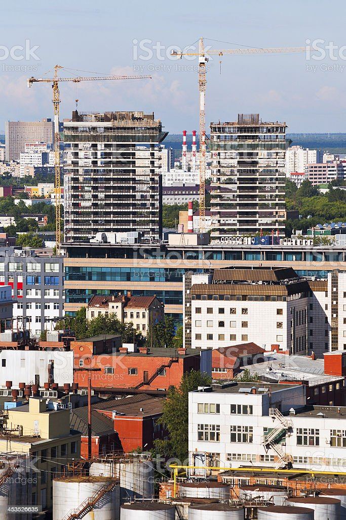 construction in Moscow royalty-free stock photo
