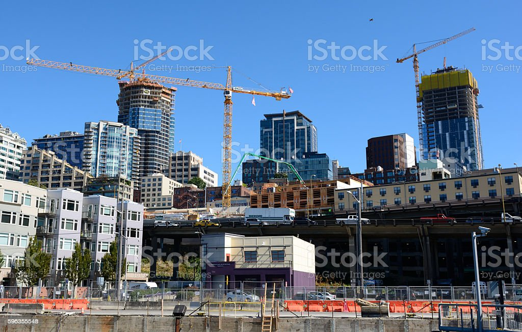 Construction in the City stock photo