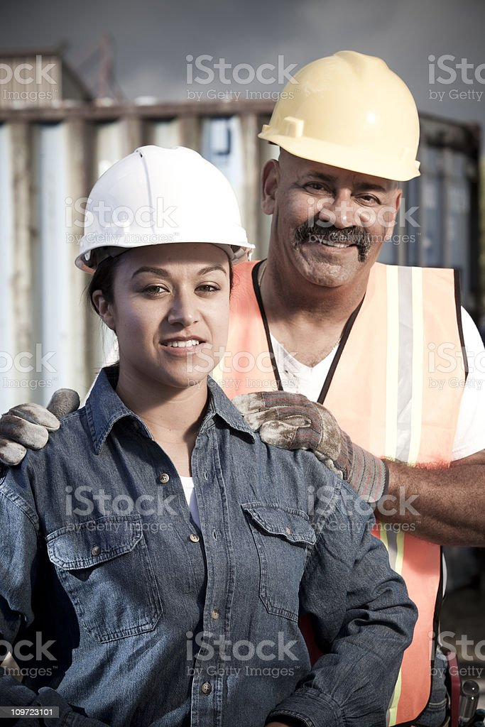 Construction industry co workers royalty-free stock photo