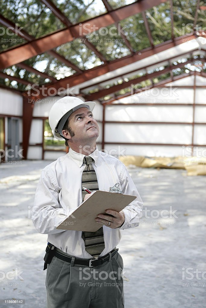 Construction Inspector - Copyspace royalty-free stock photo