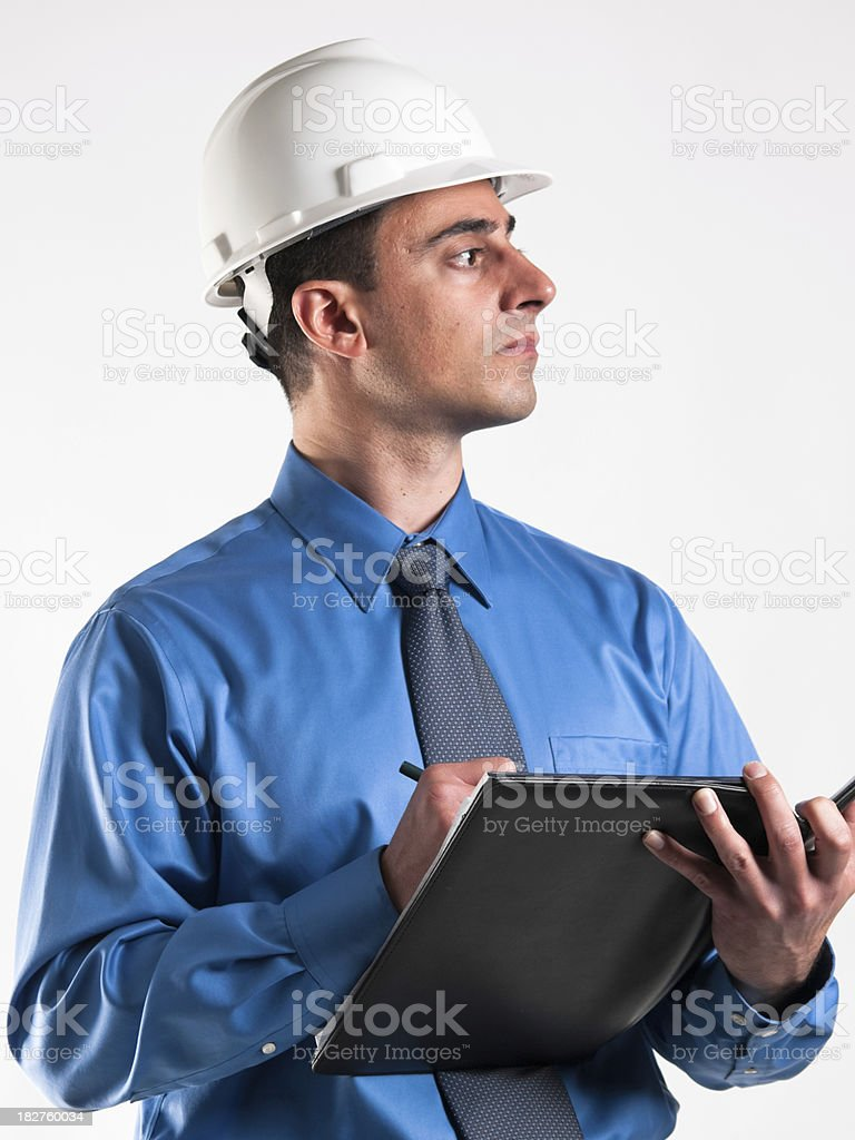 Construction inspector royalty-free stock photo