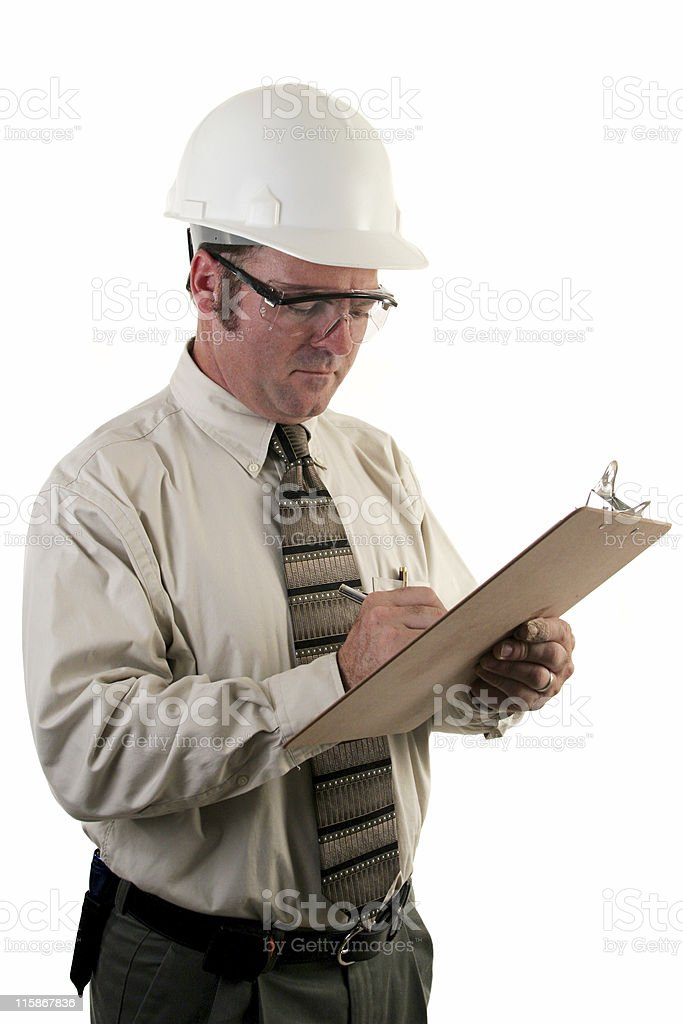 Construction Inspector Safety Glasses royalty-free stock photo