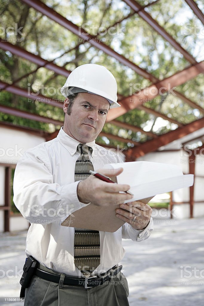 Construction Inspector - Skepticism royalty-free stock photo