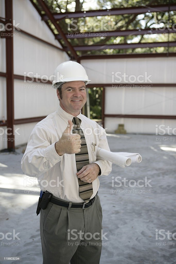 Construction Inspector - Thumbs Up royalty-free stock photo