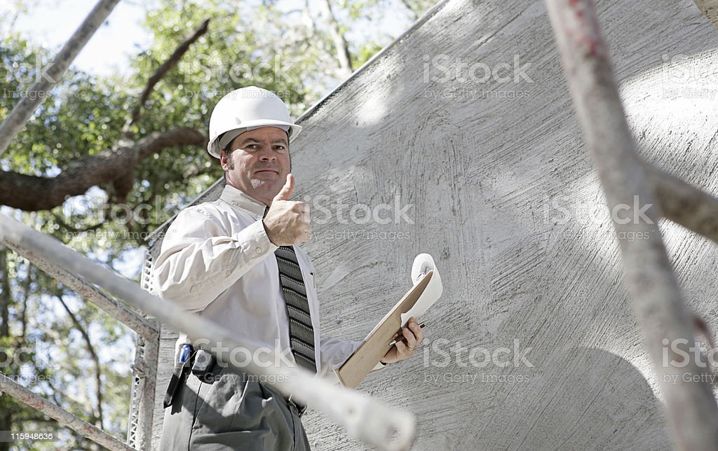 Construction Inspector Thumbsup royalty-free stock photo
