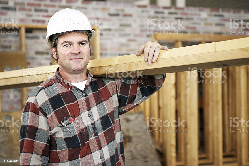 Construction Laborer royalty-free stock photo