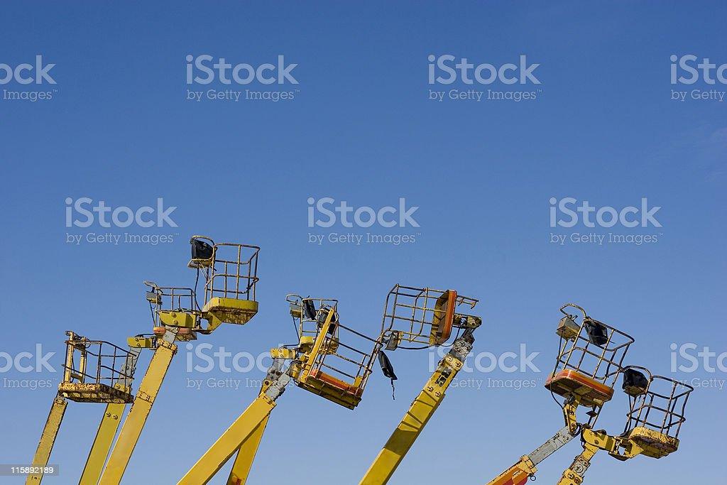Construction lift baskets royalty-free stock photo