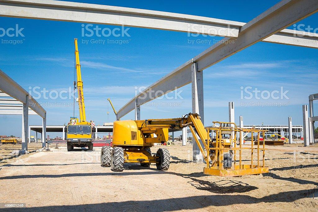 Construction lift platform stock photo