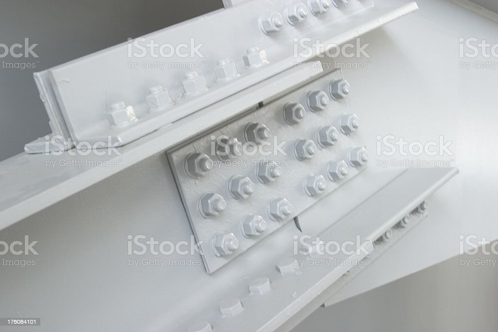 Construction - lugnuts & bolts stock photo