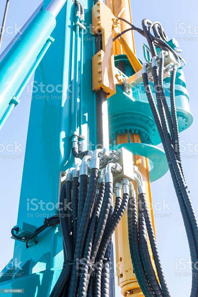 construction machine stock photo