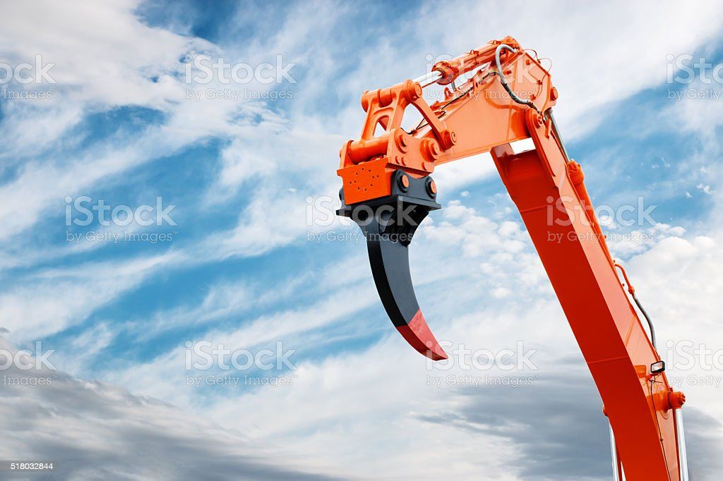 Construction Machinery at Work stock photo