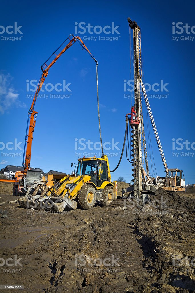 Construction machinery royalty-free stock photo