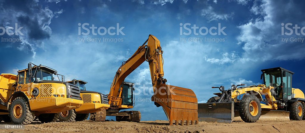 Construction Machines Ready to Work royalty-free stock photo