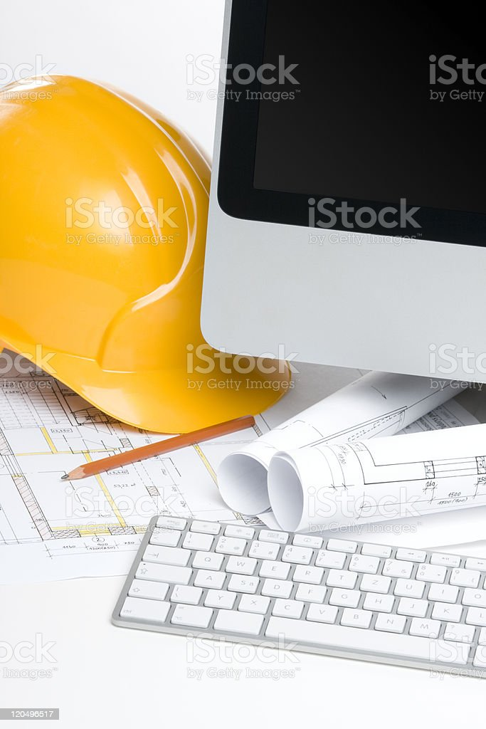 Construction manager office royalty-free stock photo