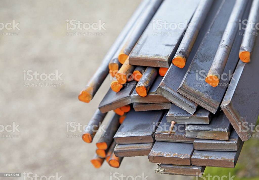 construction material-steel stock photo