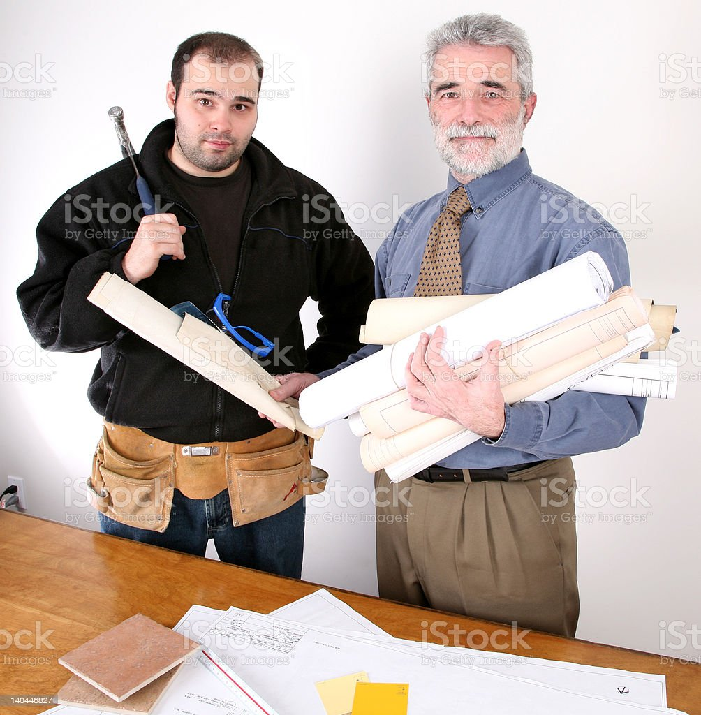 Construction Meeting 2 royalty-free stock photo